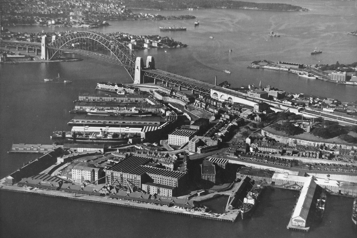 Aerial view of Sydney. 25 August 1937