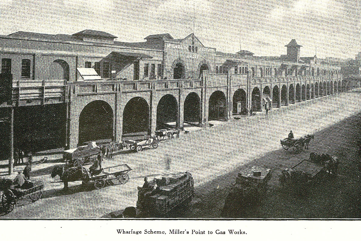 Hickson Rd, Millers Point to Gas Works. 1919